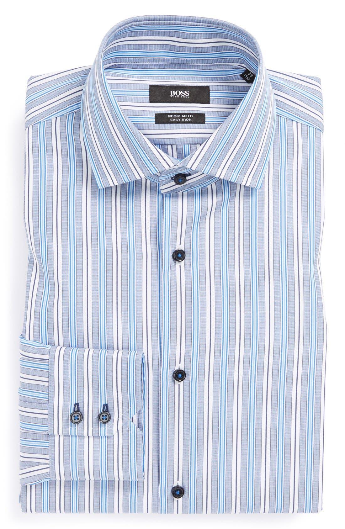 Main Image - BOSS HUGO BOSS 'Gorman' WW Regular Fit Easy Iron Stripe Dress Shirt