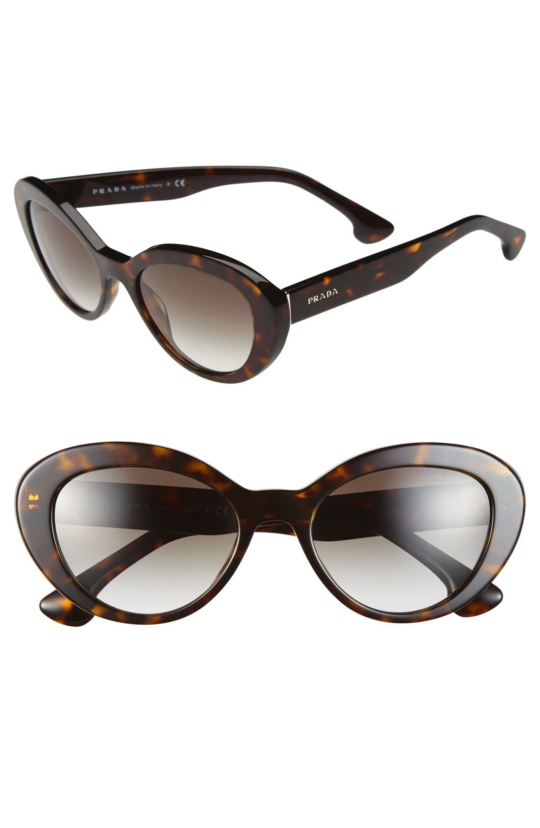 Alternate Image 1 Selected - Prada 53mm Cat Eye Sunglasses