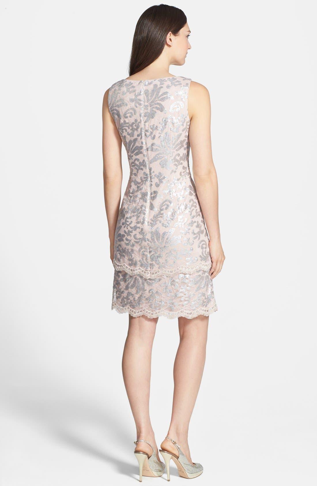 Alternate Image 2  - Alex Evenings Sequin Lace Dress & Bolero
