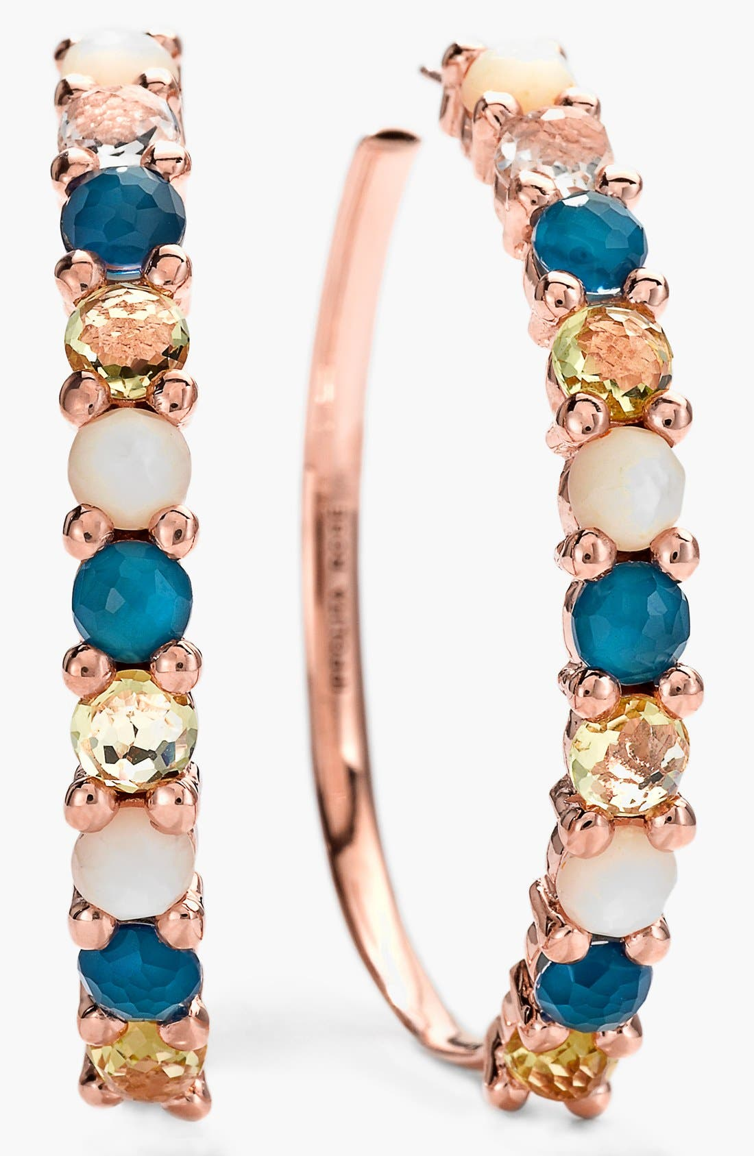Main Image - Ippolita 'Wonderland' Rosé Hoop Earrings