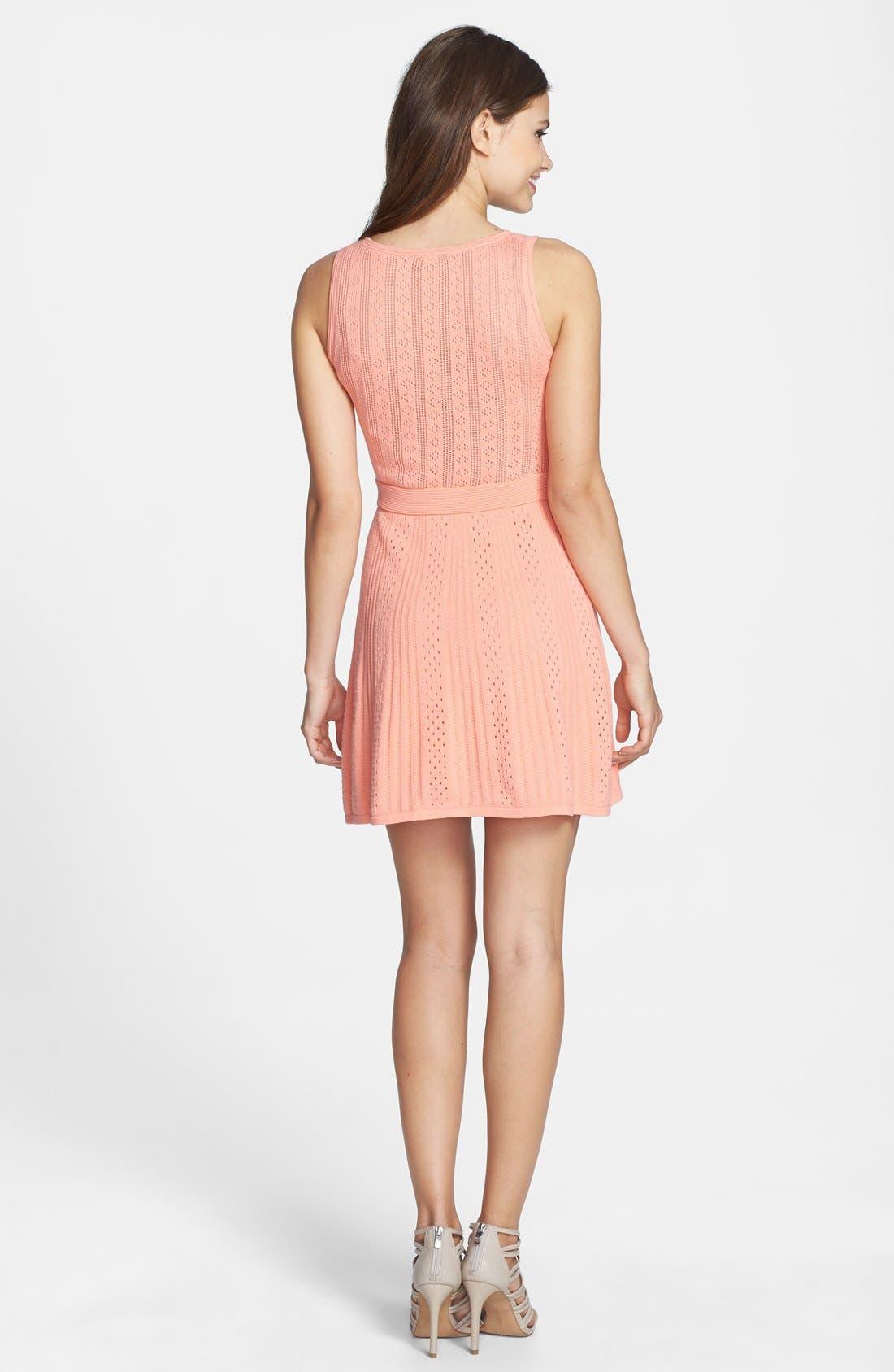 Alternate Image 2  - Trina Trina Turk 'Marcela' Cotton Pointelle Knit Dress