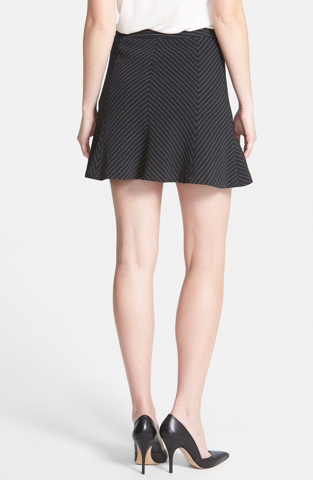 Alternate Image 2  - MICHAEL Michael Kors Pinstripe Flare Miniskirt