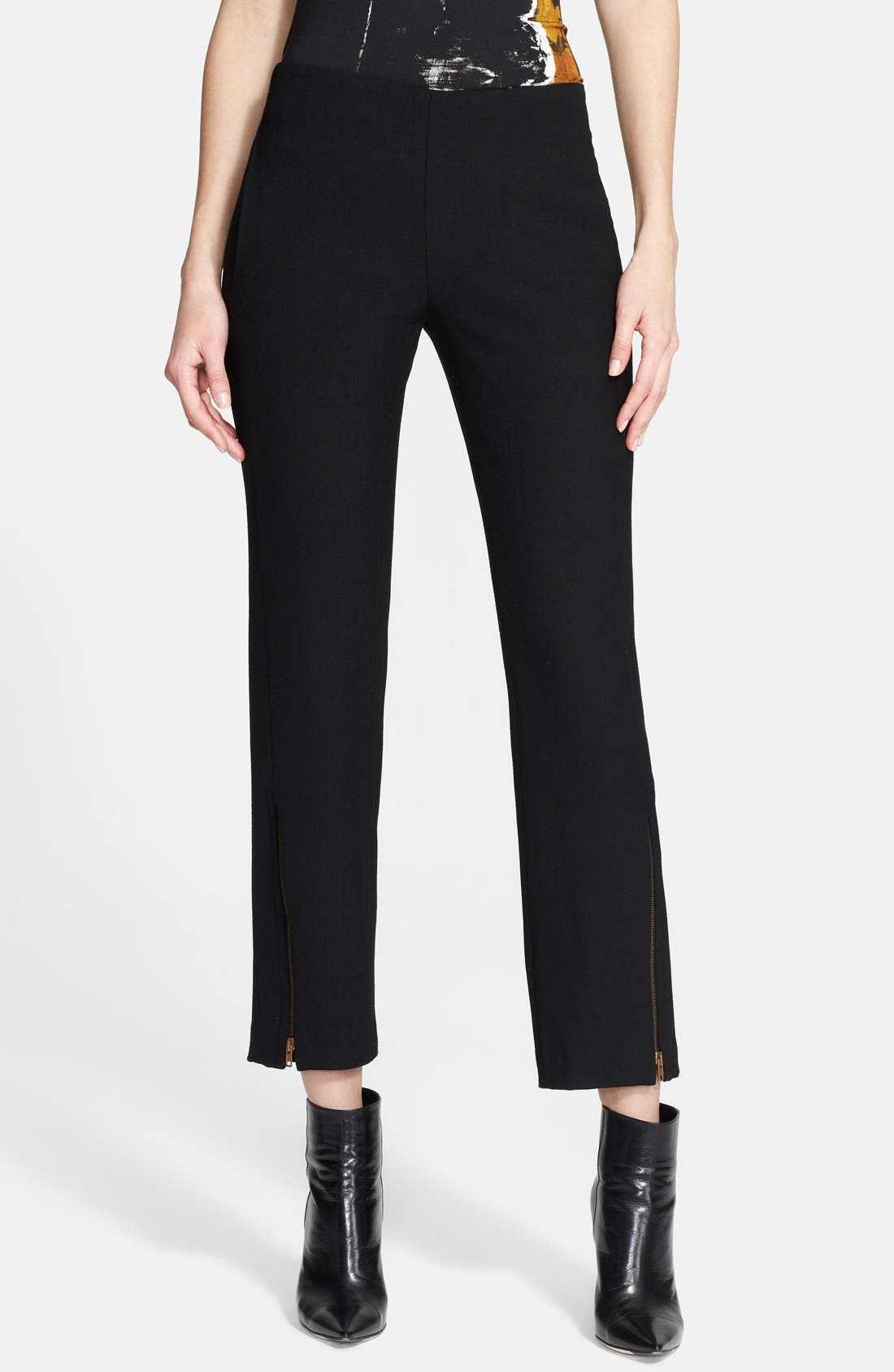 Alternate Image 1 Selected - Donna Karan Collection Zip Detail Crop Trousers