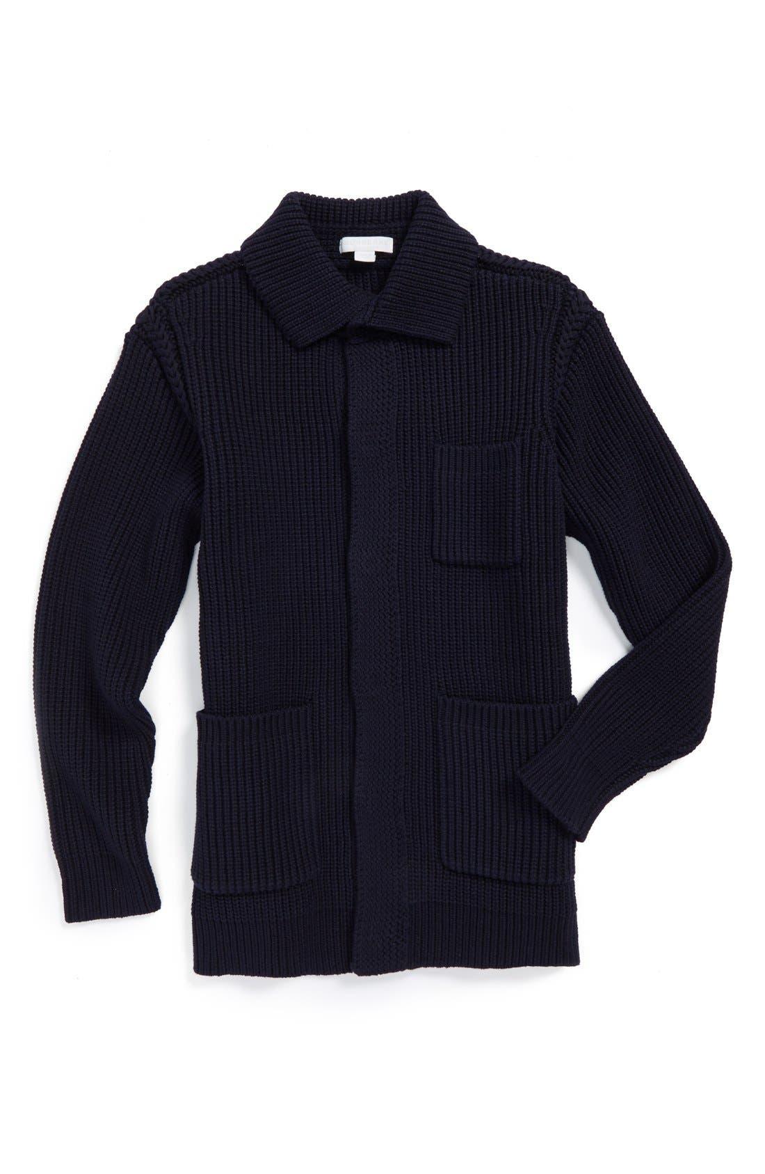 Alternate Image 1 Selected - Burberry Knit Cardigan (Little Boys & Big Boys)