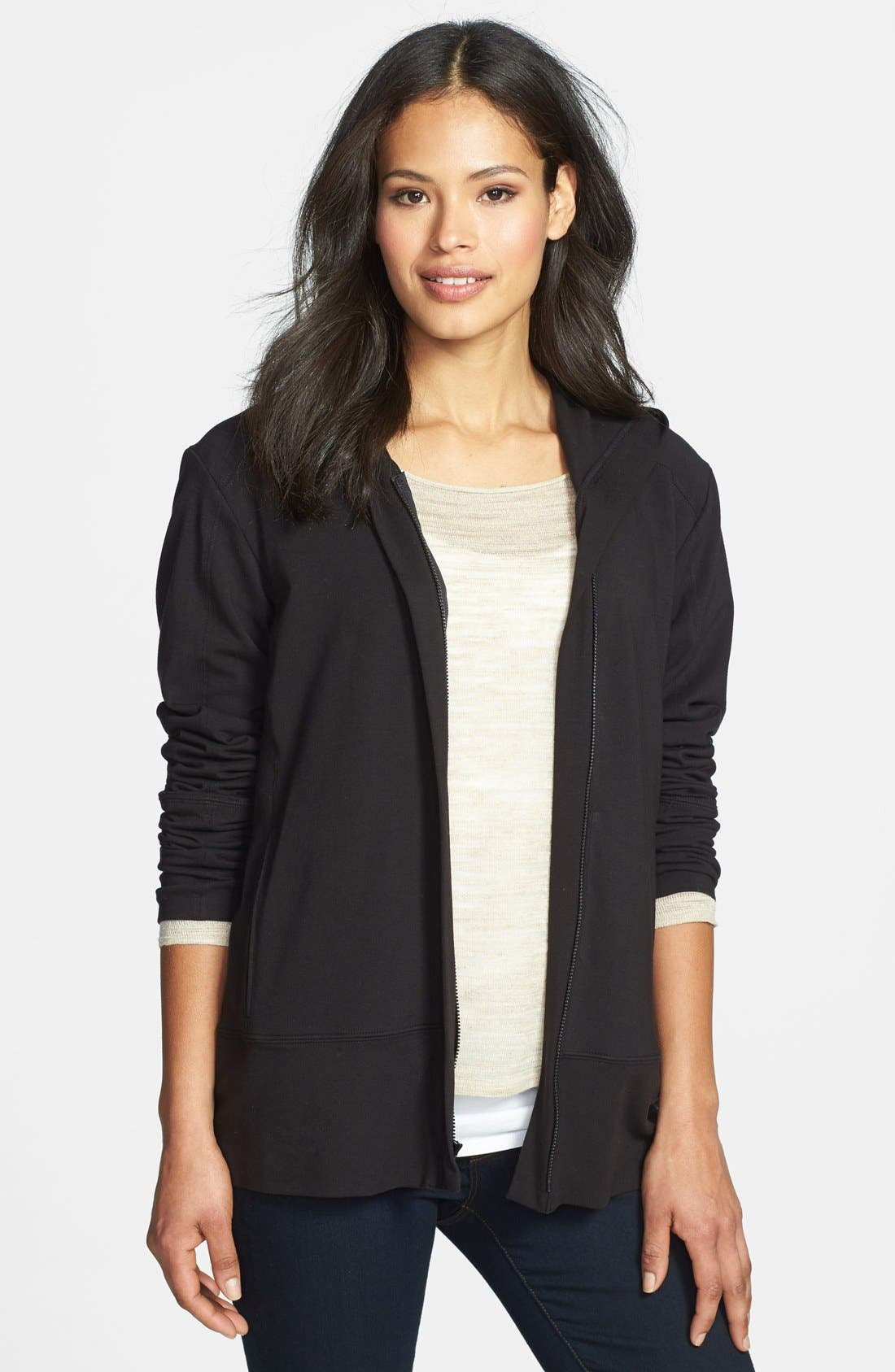 Main Image - Eileen Fisher Hooded Jersey Jacket