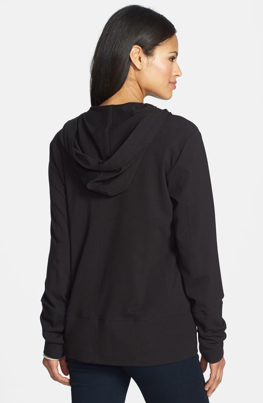 Alternate Image 2  - Eileen Fisher Hooded Jersey Jacket