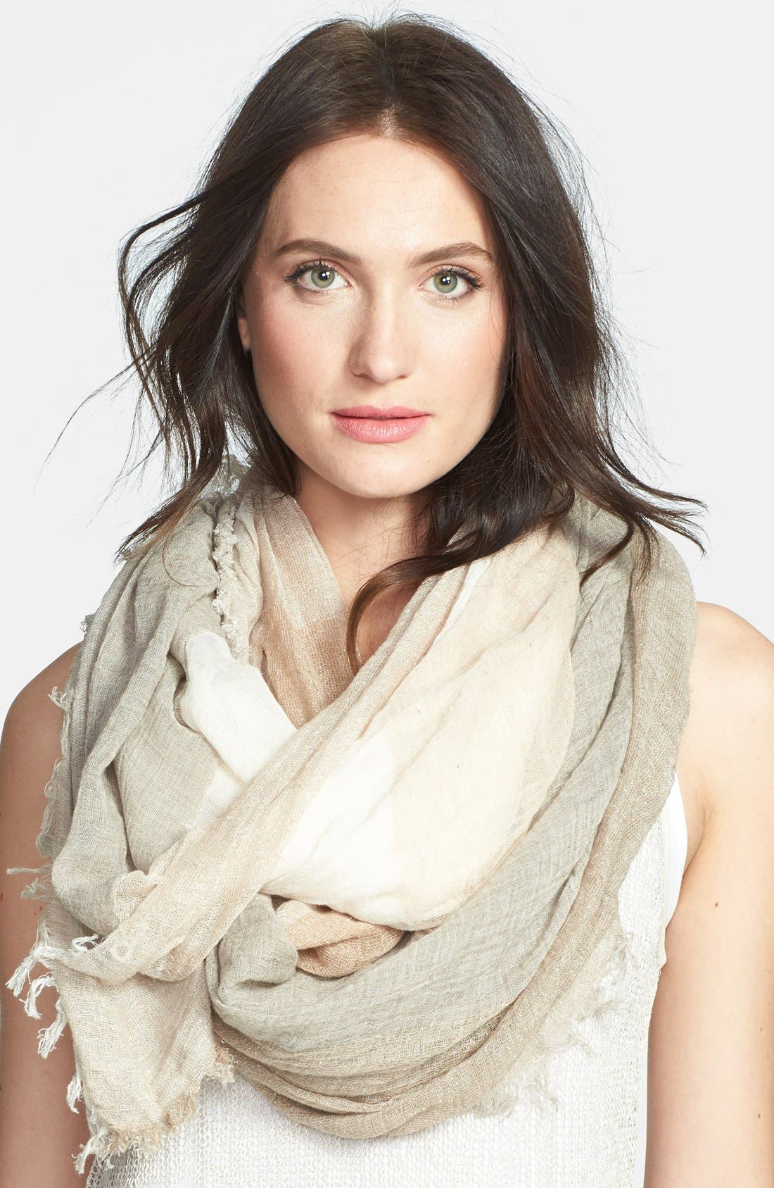 Alternate Image 1 Selected - Eileen Fisher Organic Cotton Blend Infinity Scarf