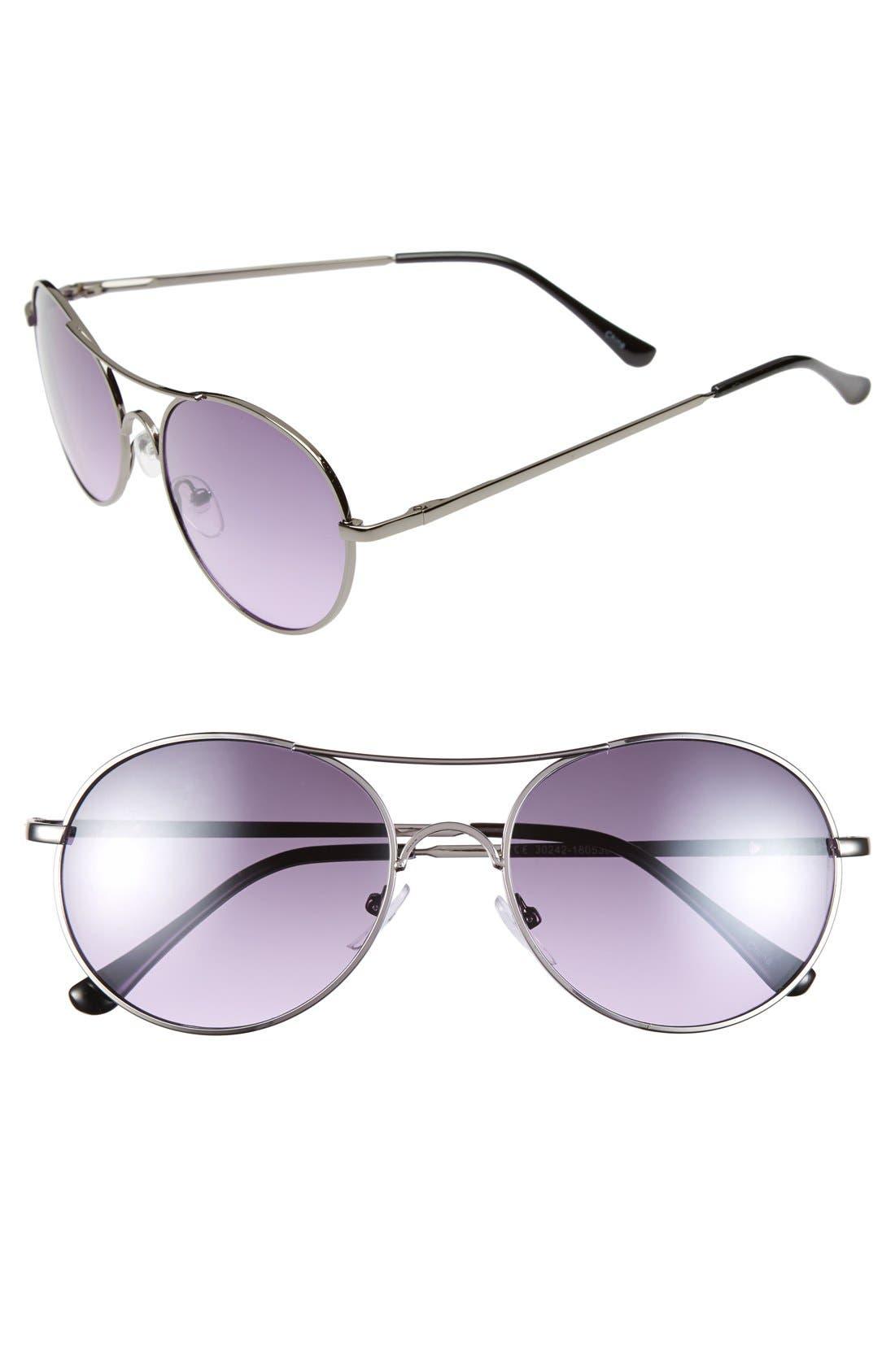 Alternate Image 1 Selected - Icon Eyewear 53mm Metal Aviator Sunglasses