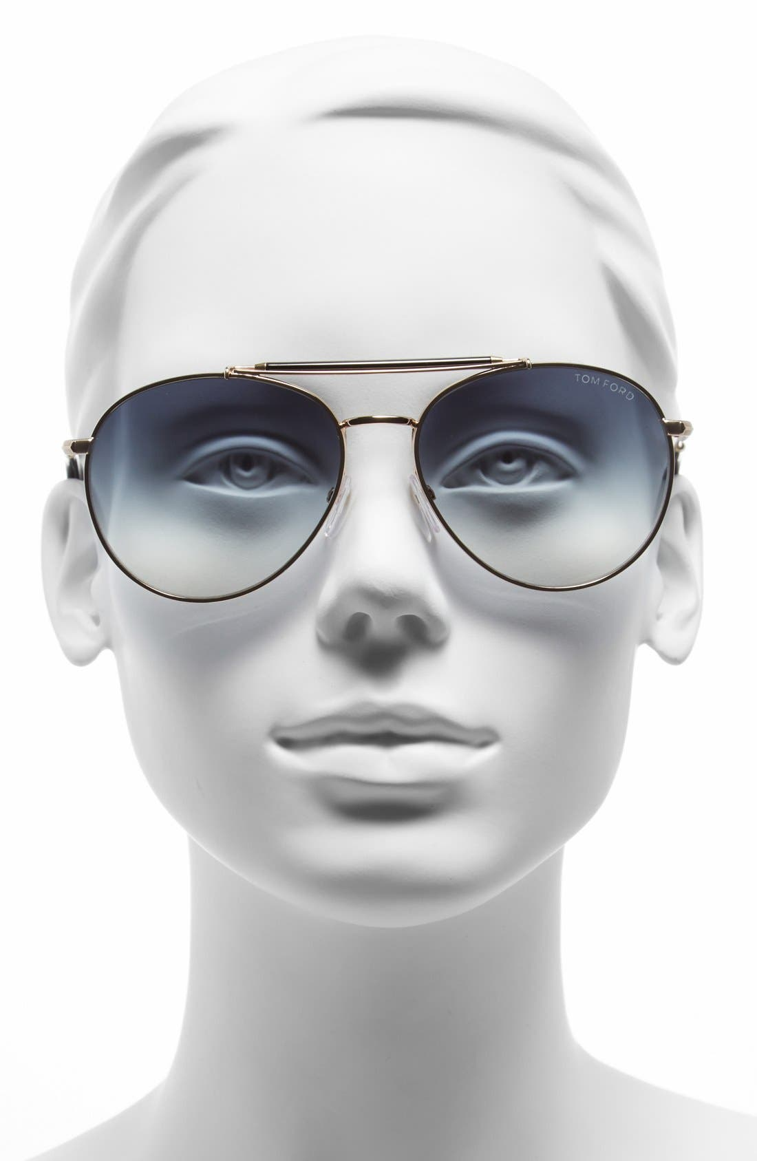 Alternate Image 2  - Tom Ford 'Colin' 58mm Aviator Sunglasses