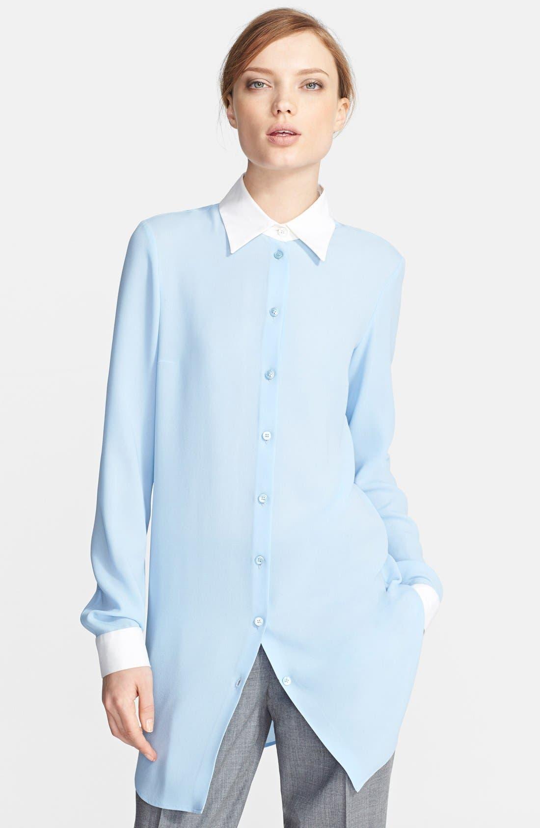 Alternate Image 1 Selected - Michael Kors Long Silk Georgette Shirt