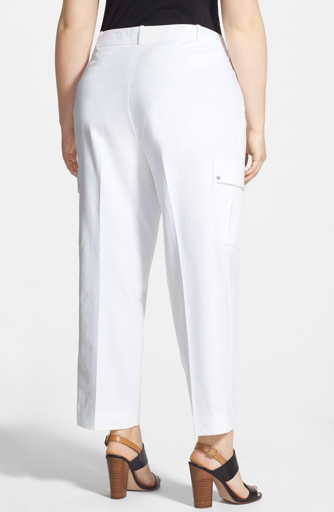 Alternate Image 2  - Anne Klein Cargo Capri Pants (Plus Size)