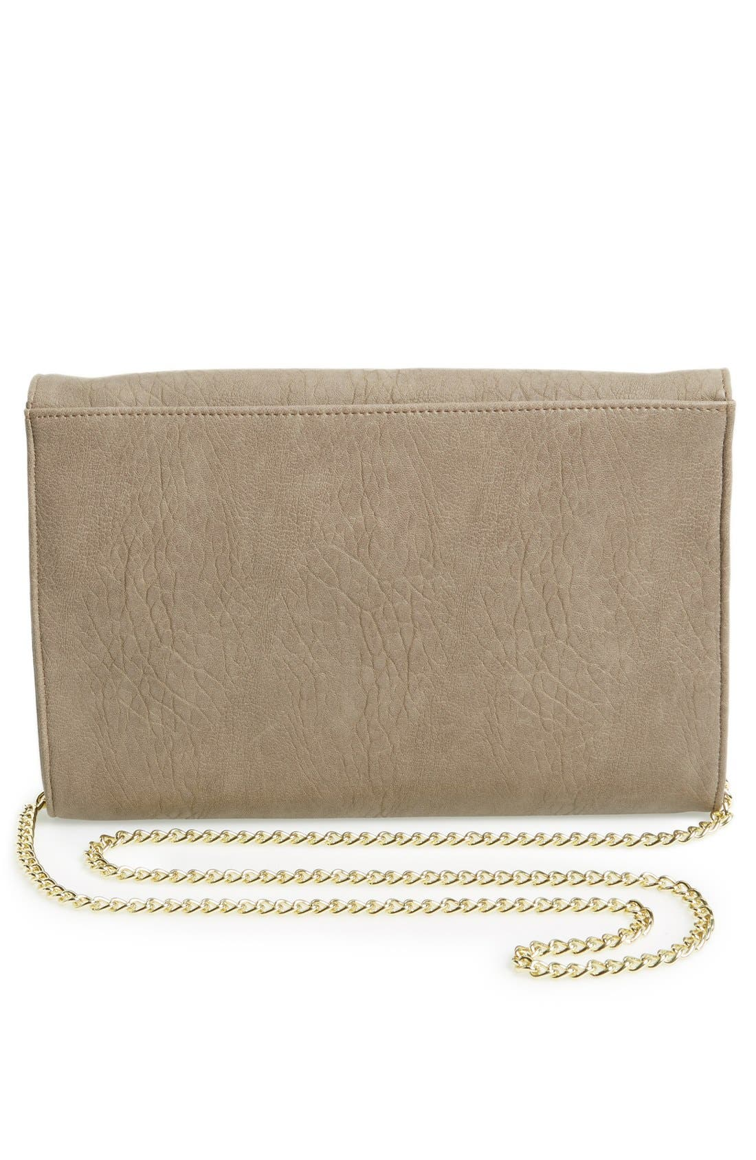 Alternate Image 4  - Lulu Zip Detail Clutch (Juniors)