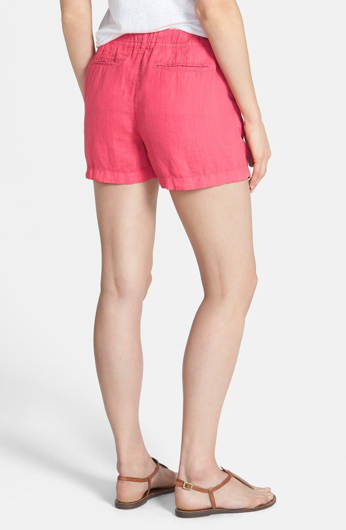 Alternate Image 2  - Caslon® Drawstring Linen Shorts (Regular & Petite)