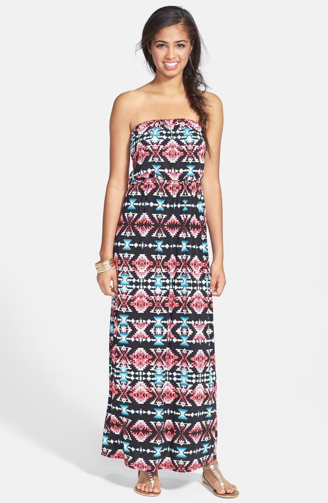 Main Image - Trixxi Tube Maxi Dress (Juniors)