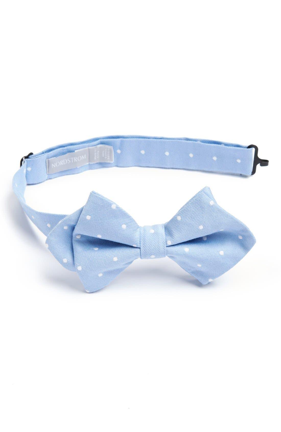 Main Image - Nordstrom Cotton & Silk Bow Tie (Big Boys)