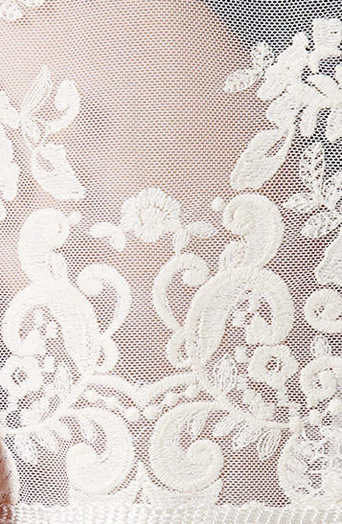 Alternate Image 4  - Topshop Floral Lace Fringe Tee