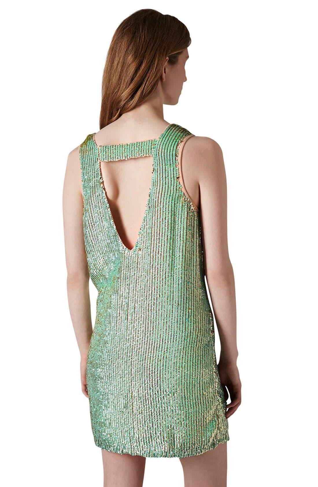 Alternate Image 2  - Topshop Sequin Shift Dress