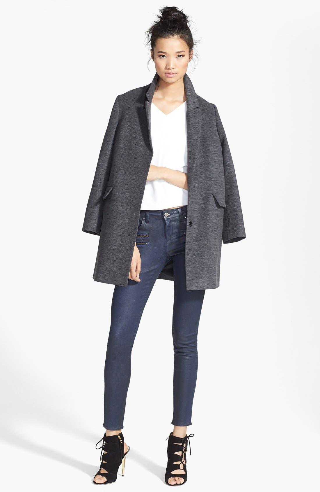 Alternate Image 5  - Topshop 'Maisie' Top Coat (Nordstrom Exclusive)