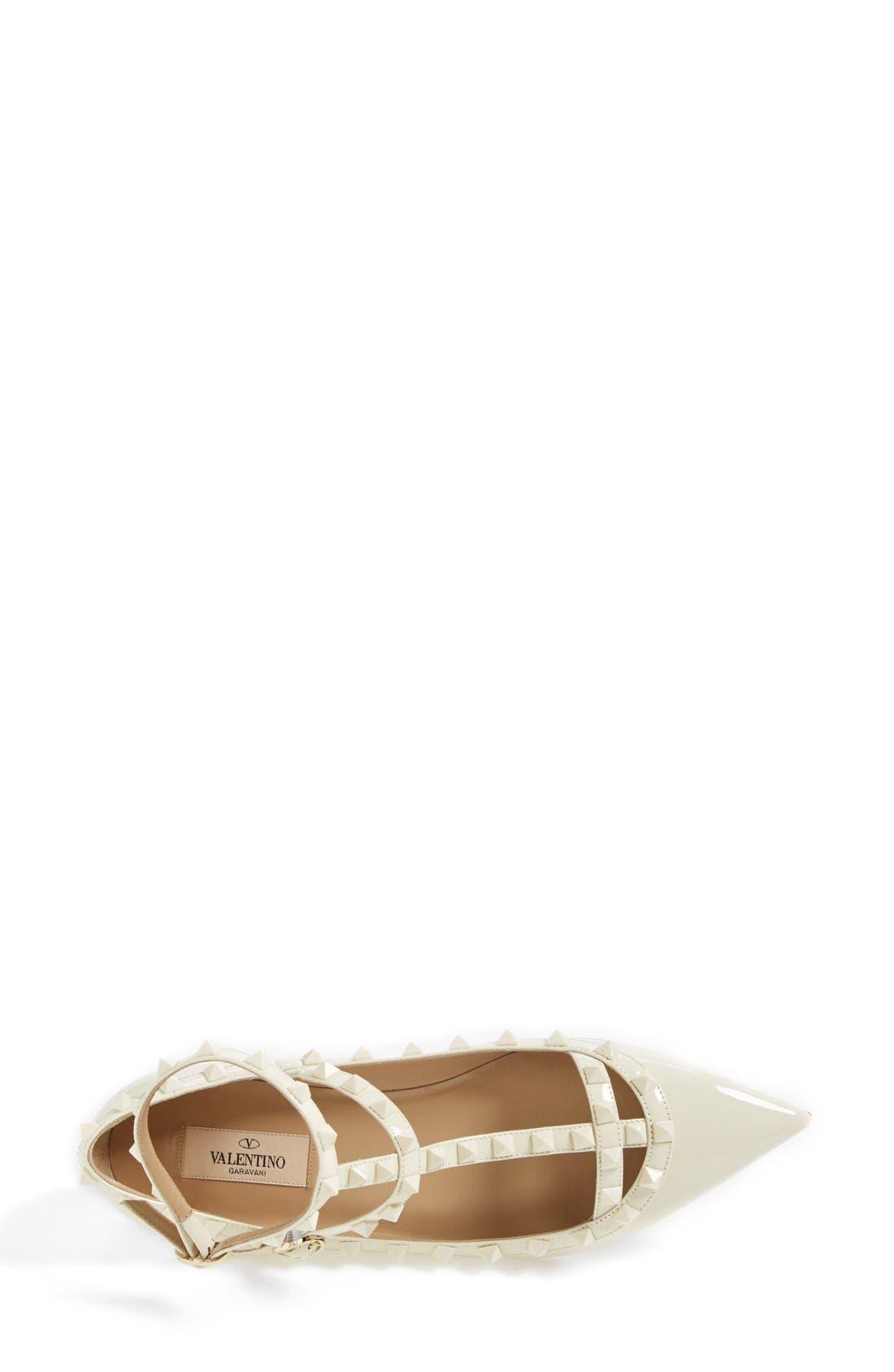 Alternate Image 3  - Valentino 'Punkouture' Studded T-Strap Pointy Toe Flat (Women)