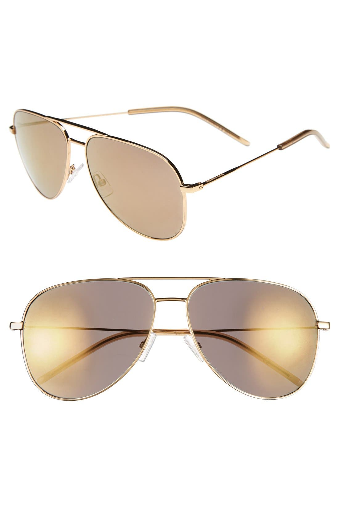 Main Image - Saint Laurent 59mm Aviator Sunglasses