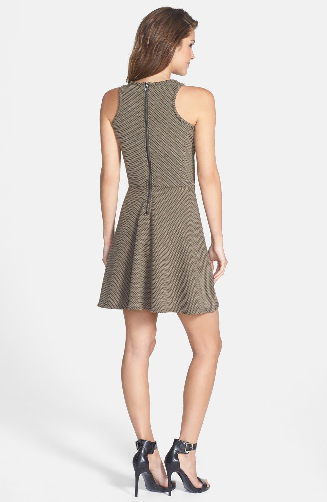 Alternate Image 2  - Olive & Oak Textured Fit & Flare Dress