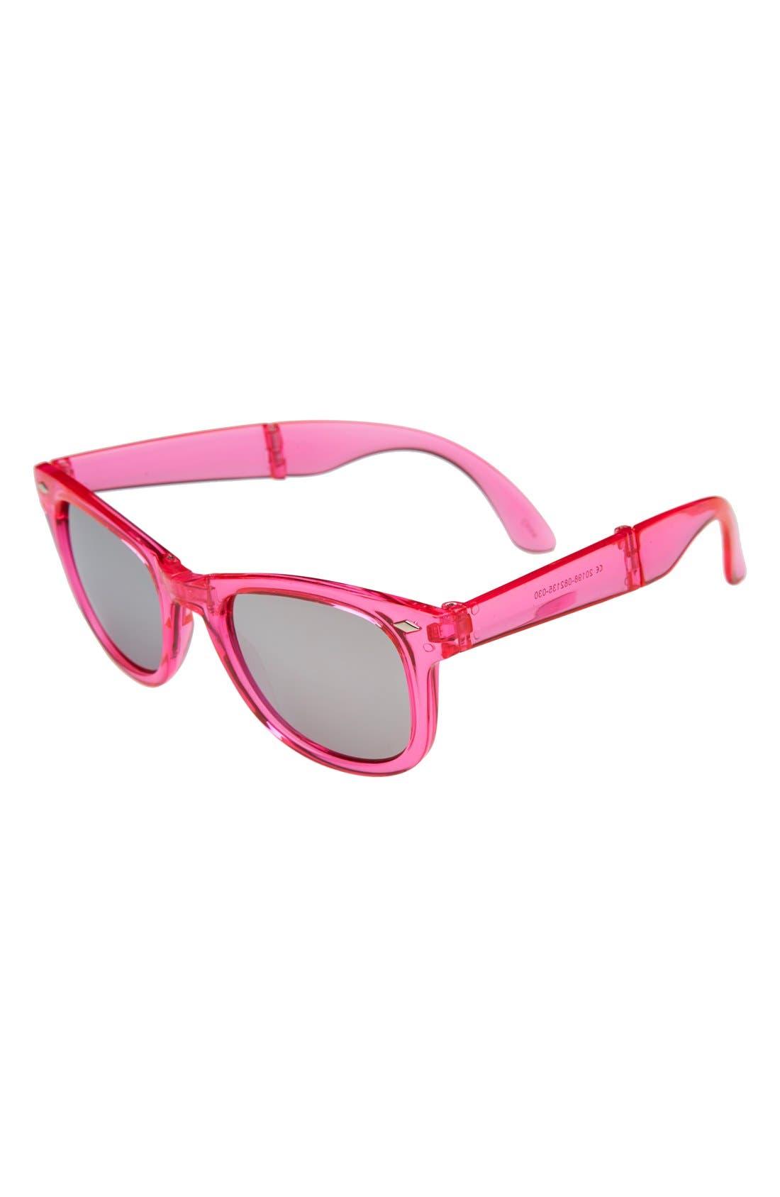 Alternate Image 1 Selected - Icon Eyewear Foldable Sunglasses (Girls)
