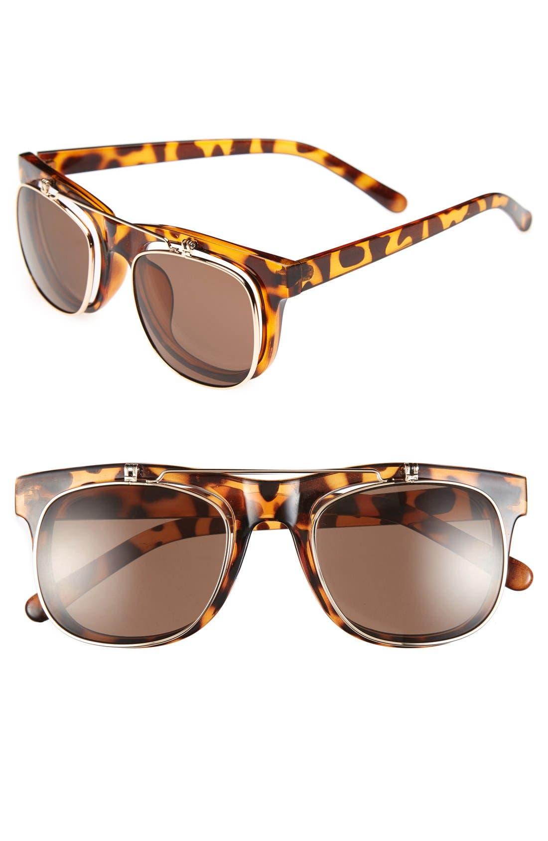 Alternate Image 1 Selected - FE NY 51mm Flip-Up Sunglasses