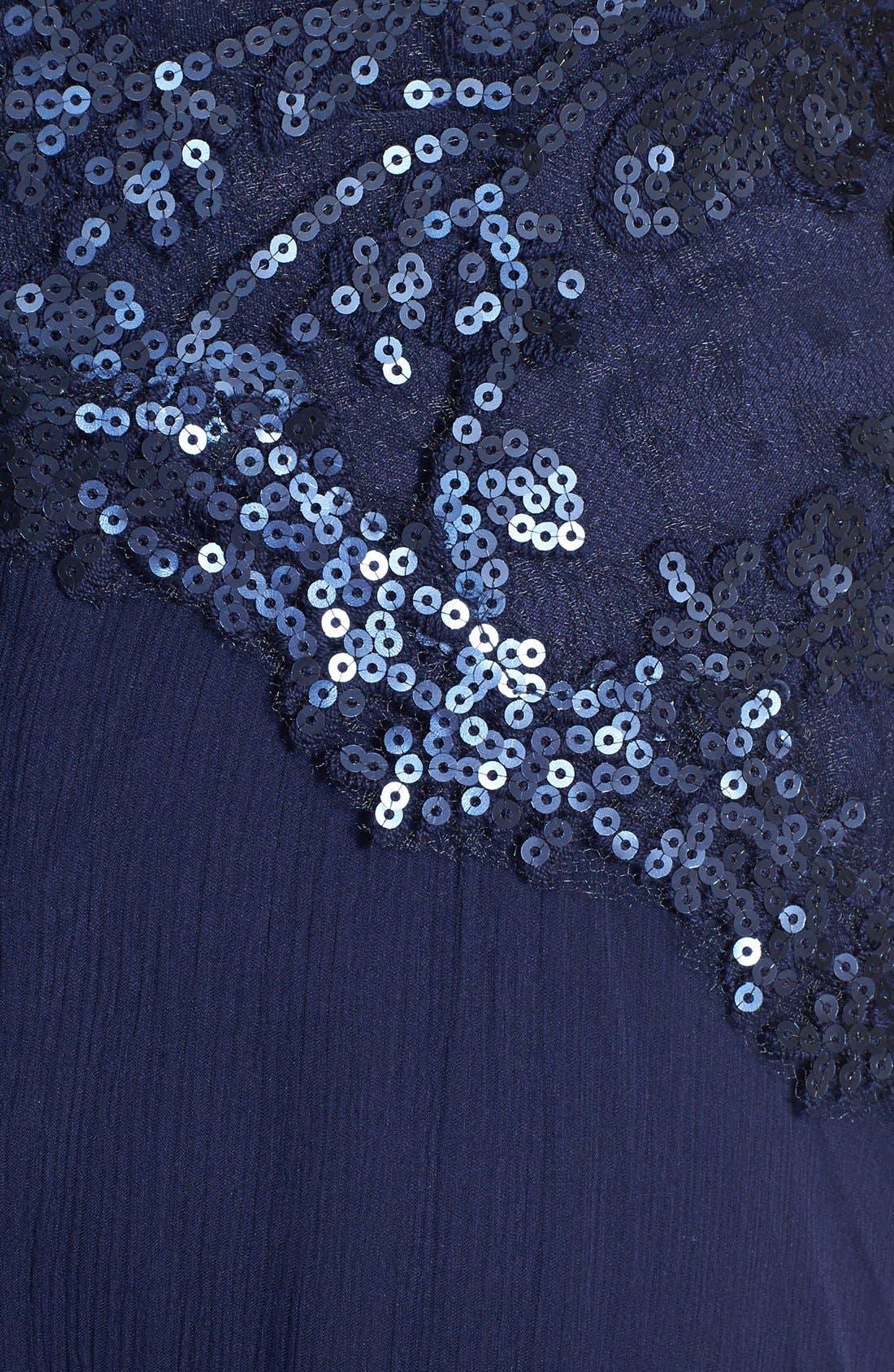 Alternate Image 3  - Tadashi Shoji Embroidered Bodice Tulle Gown