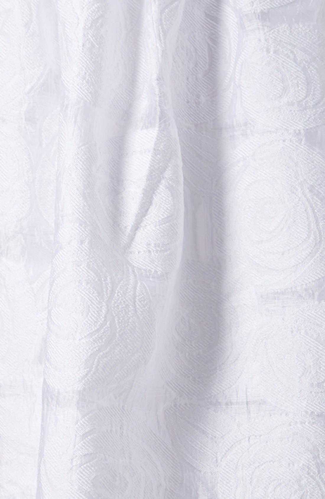 Alternate Image 4  - Topshop Rose Jacquard Midi Skirt