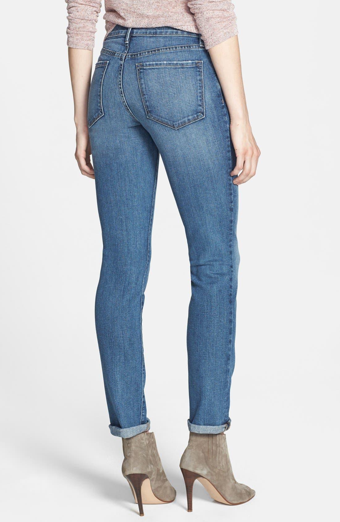 Alternate Image 2  - NYDJ 'Leann' Stretch Boyfriend Jeans (Durham)