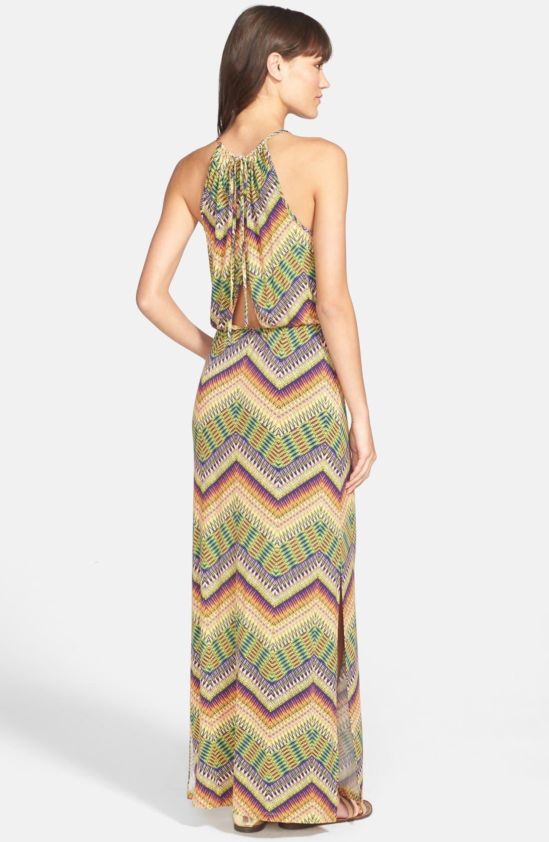 Alternate Image 2  - Sanctuary 'Island' Chevron Print Cutout Maxi Dress