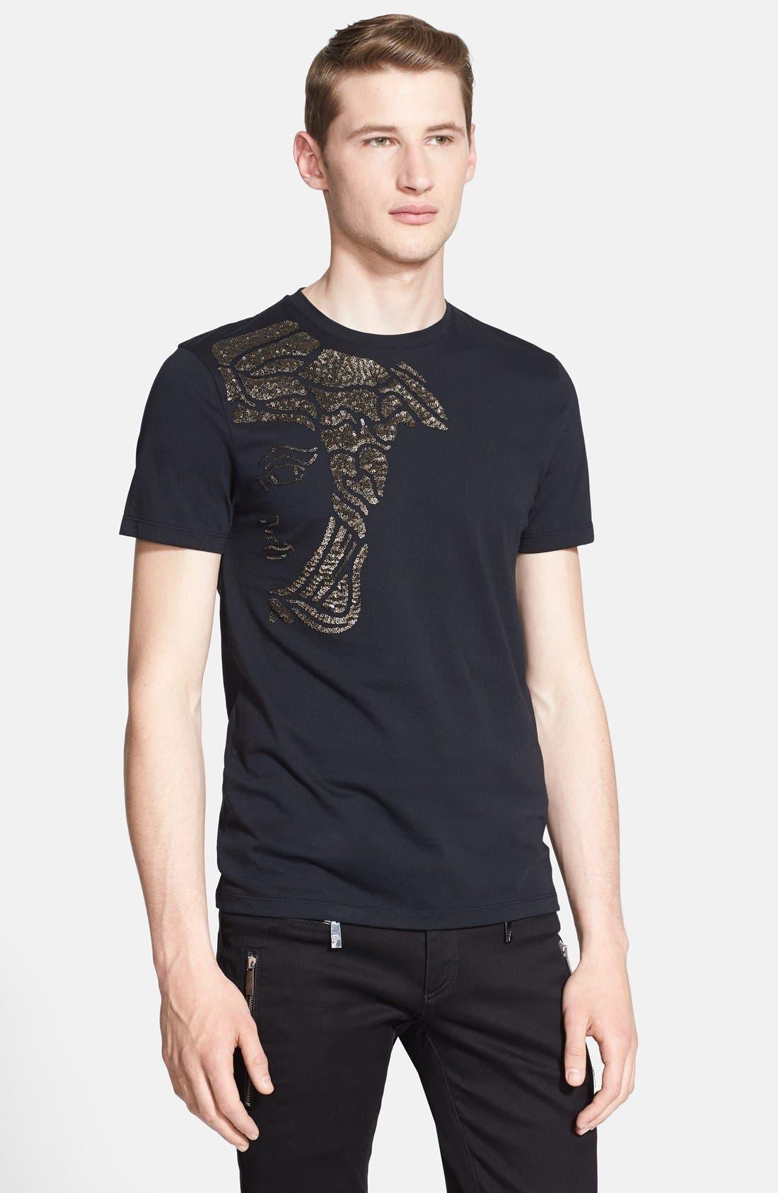 Alternate Image 1 Selected - Versace Collection Metallic Medusa Logo T-Shirt