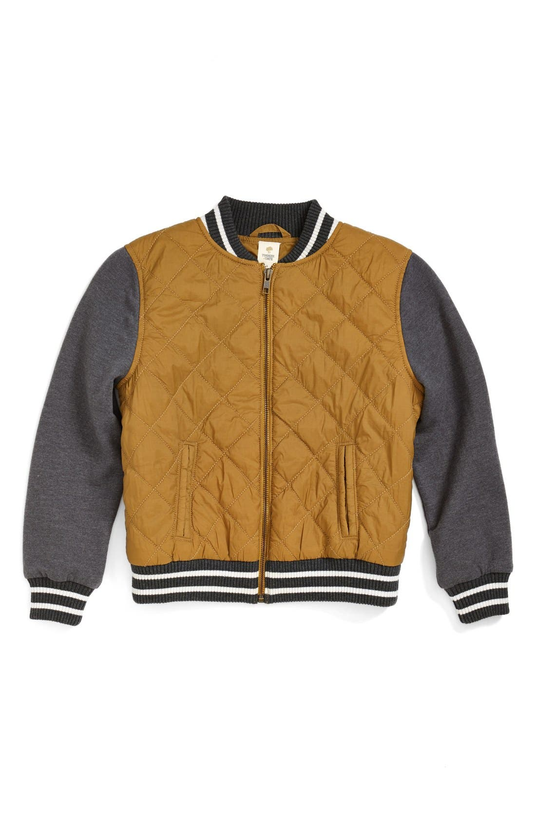 Alternate Image 1 Selected - Tucker + Tate 'Isaac' Quilted Bomber Jacket (Toddler Boys & Little Boys)