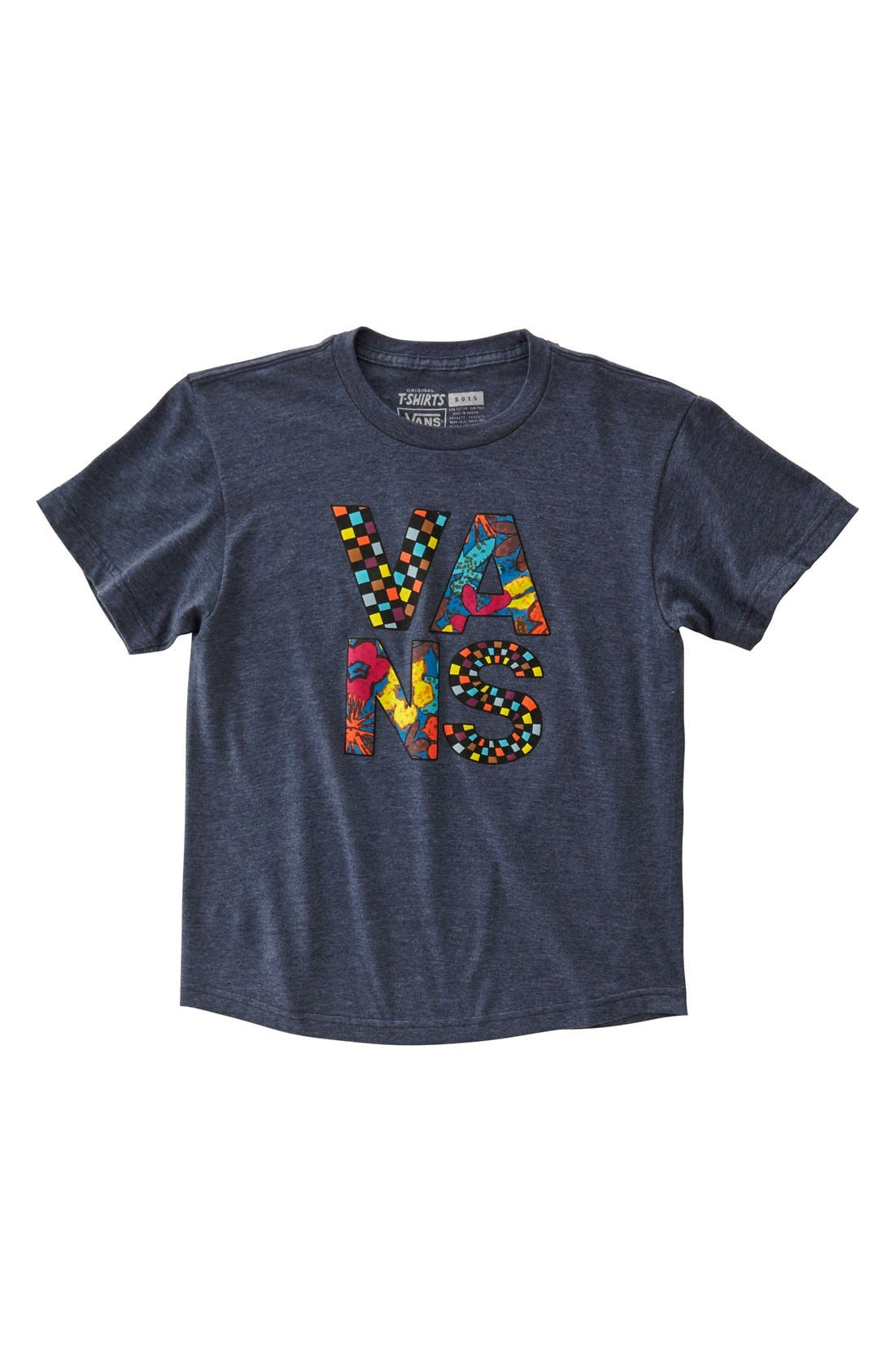 Alternate Image 1 Selected - Vans 'Typesetter' Graphic T-Shirt (Big Boys)