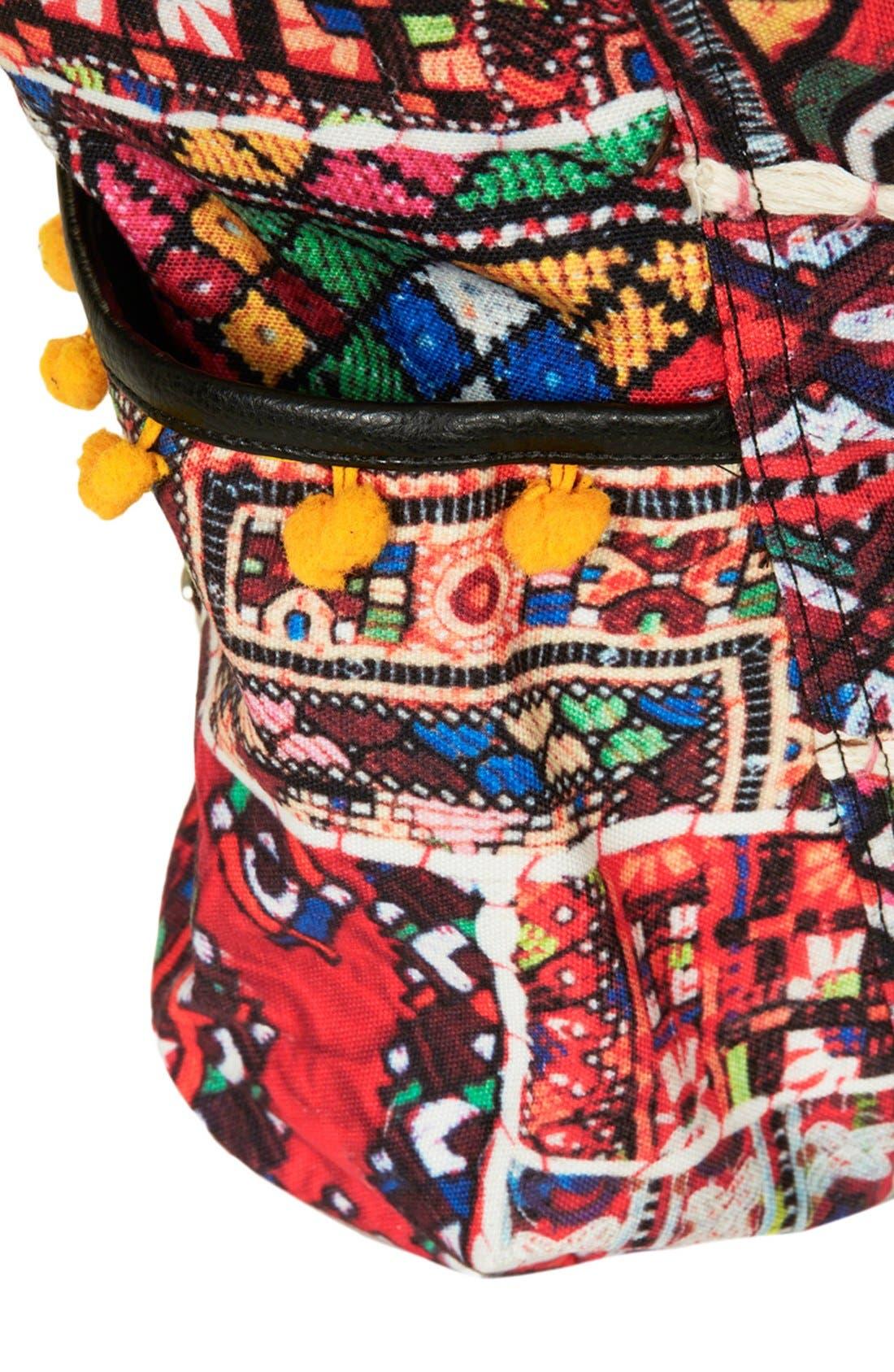 Alternate Image 3  - Topshop 'Cuzco' Pompom Trim Embroidered Backpack