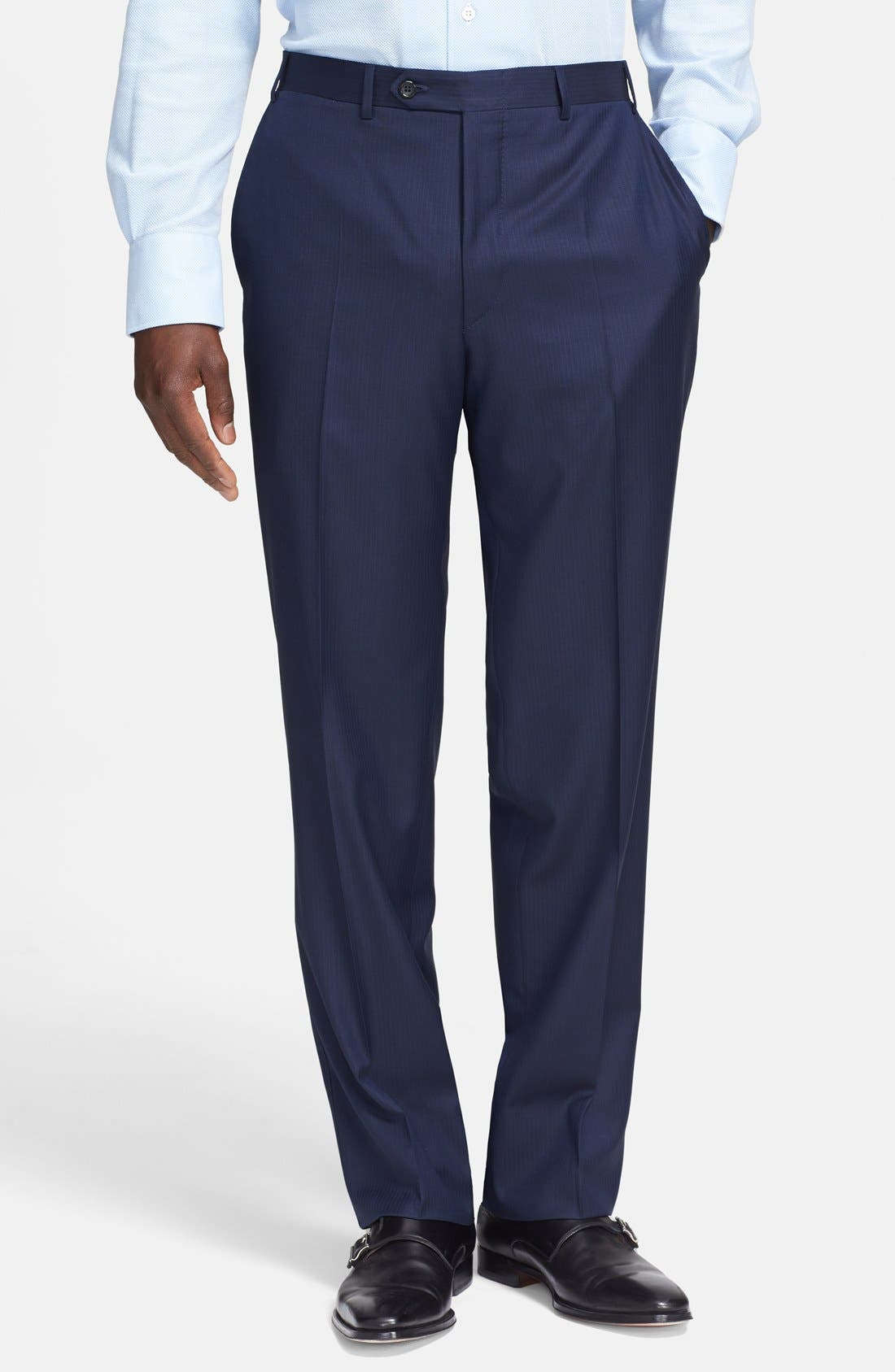 Alternate Image 4  - Canali Classic Fit Wool Suit