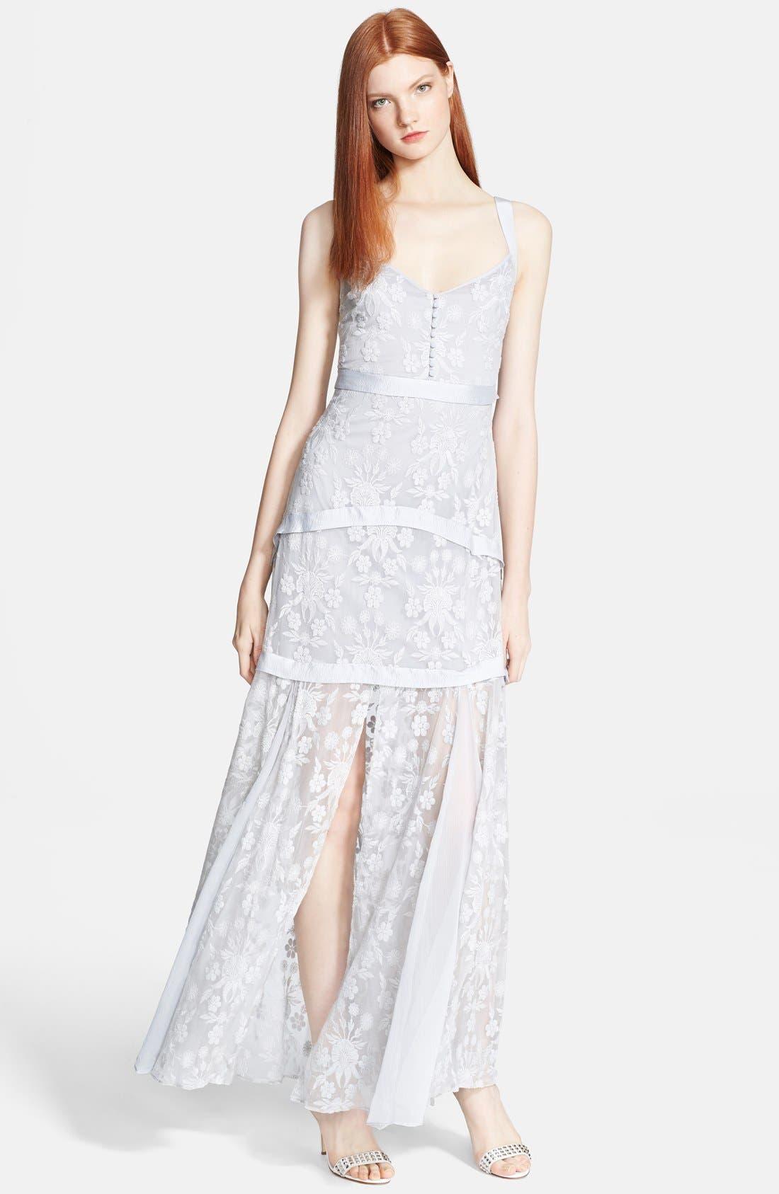 Alternate Image 1 Selected - Elizabeth and James 'Lise' Long Silk Lace Dress