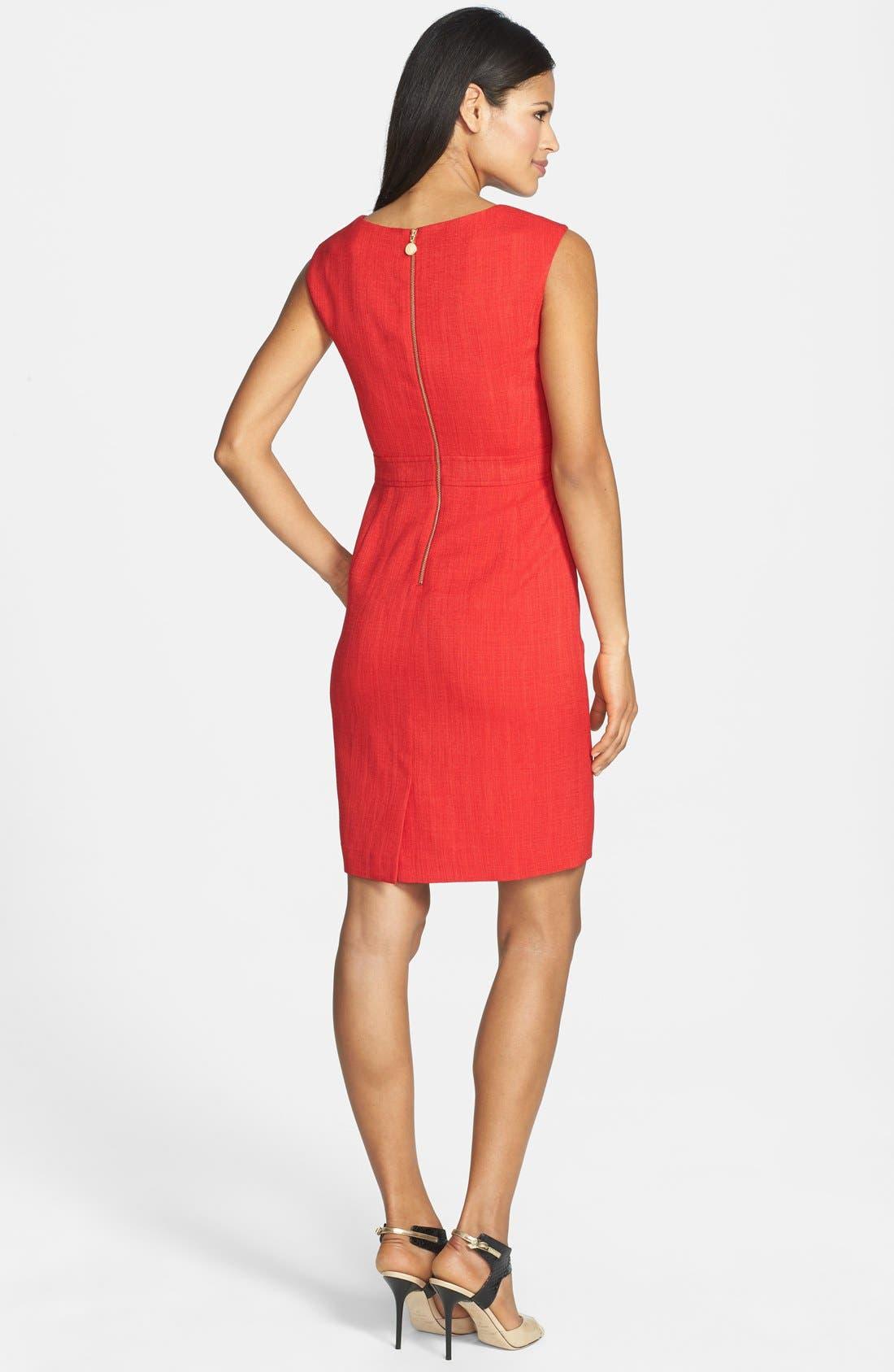 Alternate Image 2  - Ellen Tracy Hardware Embellished Sheath Dress
