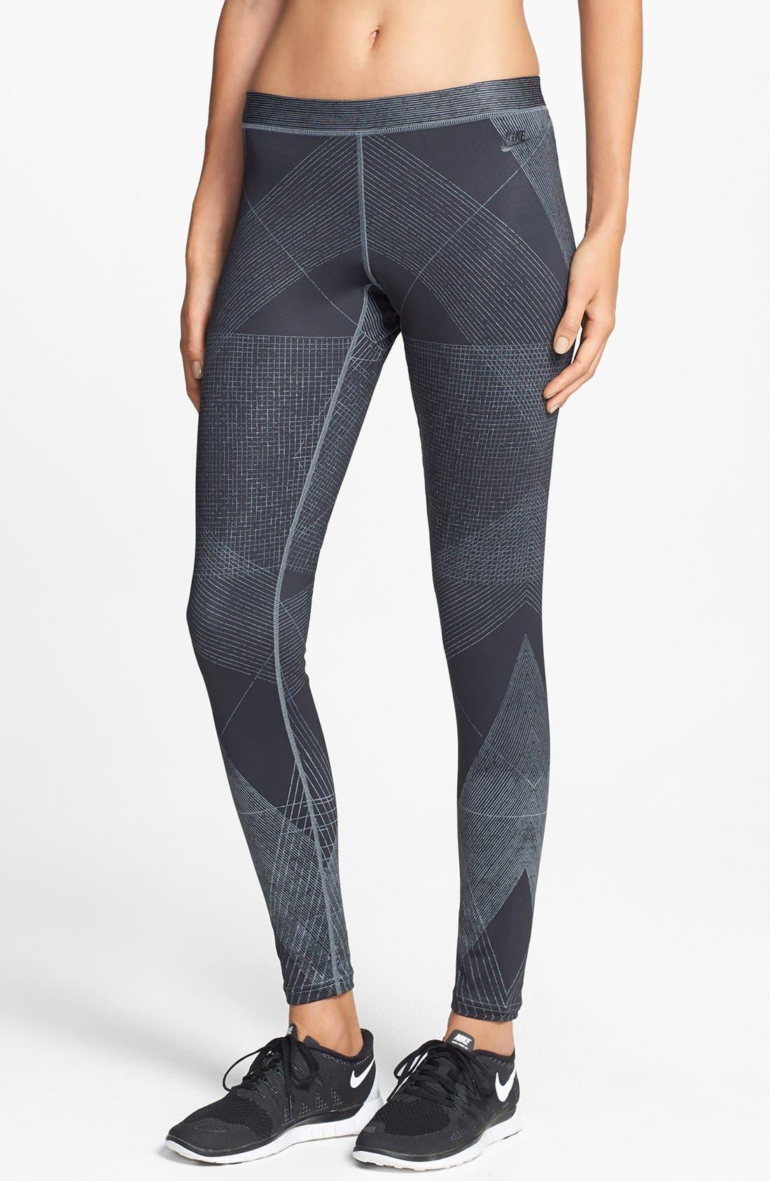 Alternate Image 1 Selected - Nike 'Fast Track' Dri-FIT Print Leggings