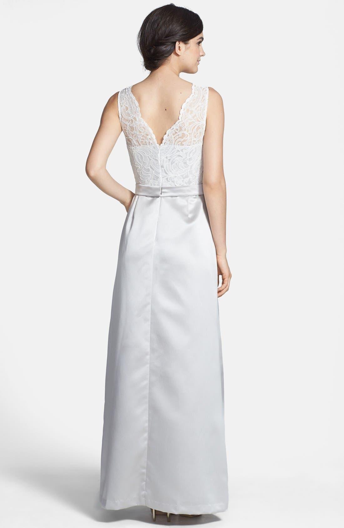 Alternate Image 2  - After Six Sleeveless Lace & Matte Satin Dress