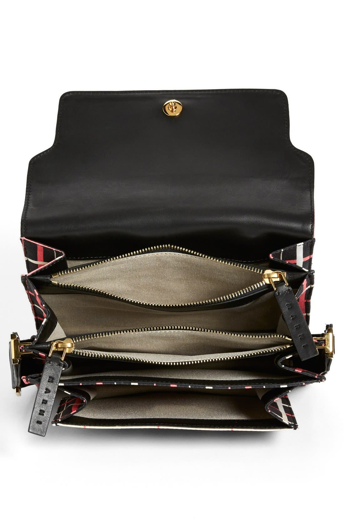 Alternate Image 3  - Marni Graphic Print Double Partition Crossbody Bag