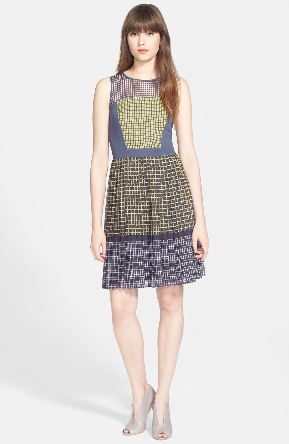 Alternate Image 1 Selected - Halogen® Print Fit & Flare Dress (Regular & Petite)