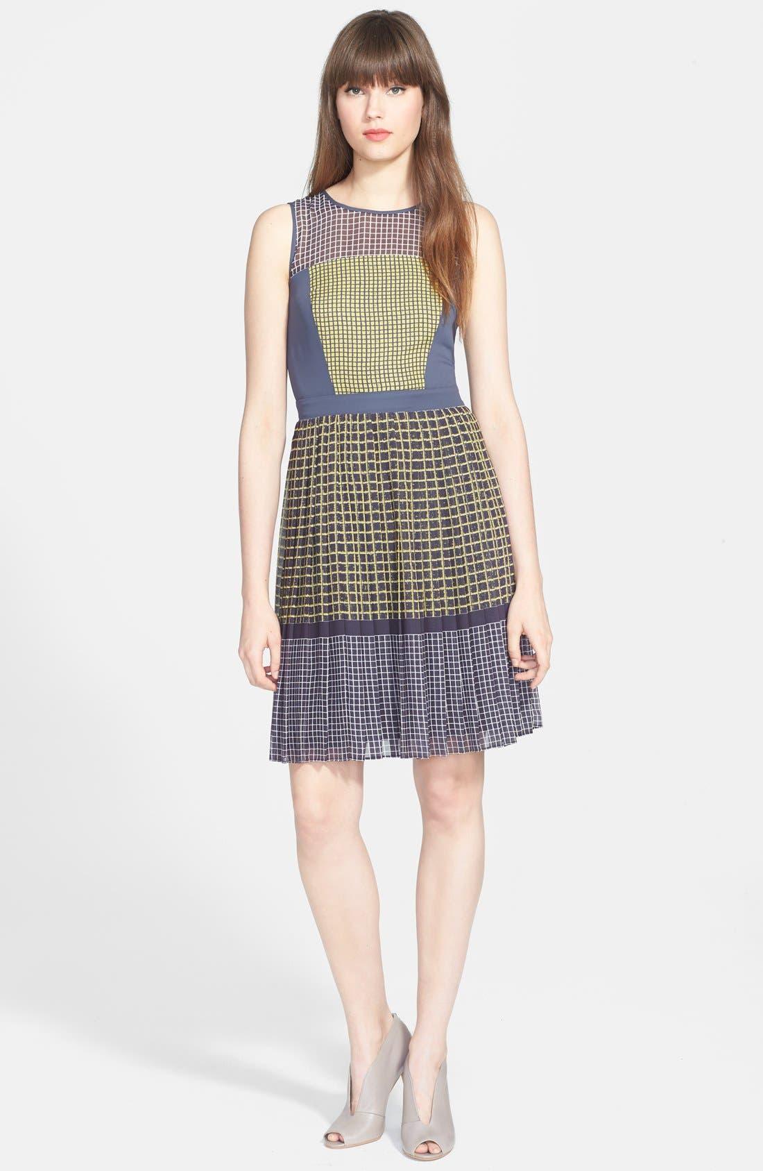 Main Image - Halogen® Print Fit & Flare Dress (Regular & Petite)