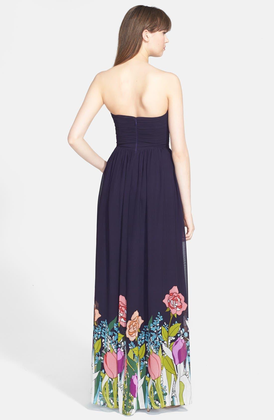 Alternate Image 2  - ERIN erin fetherston 'Isabelle' Print Strapless Gown