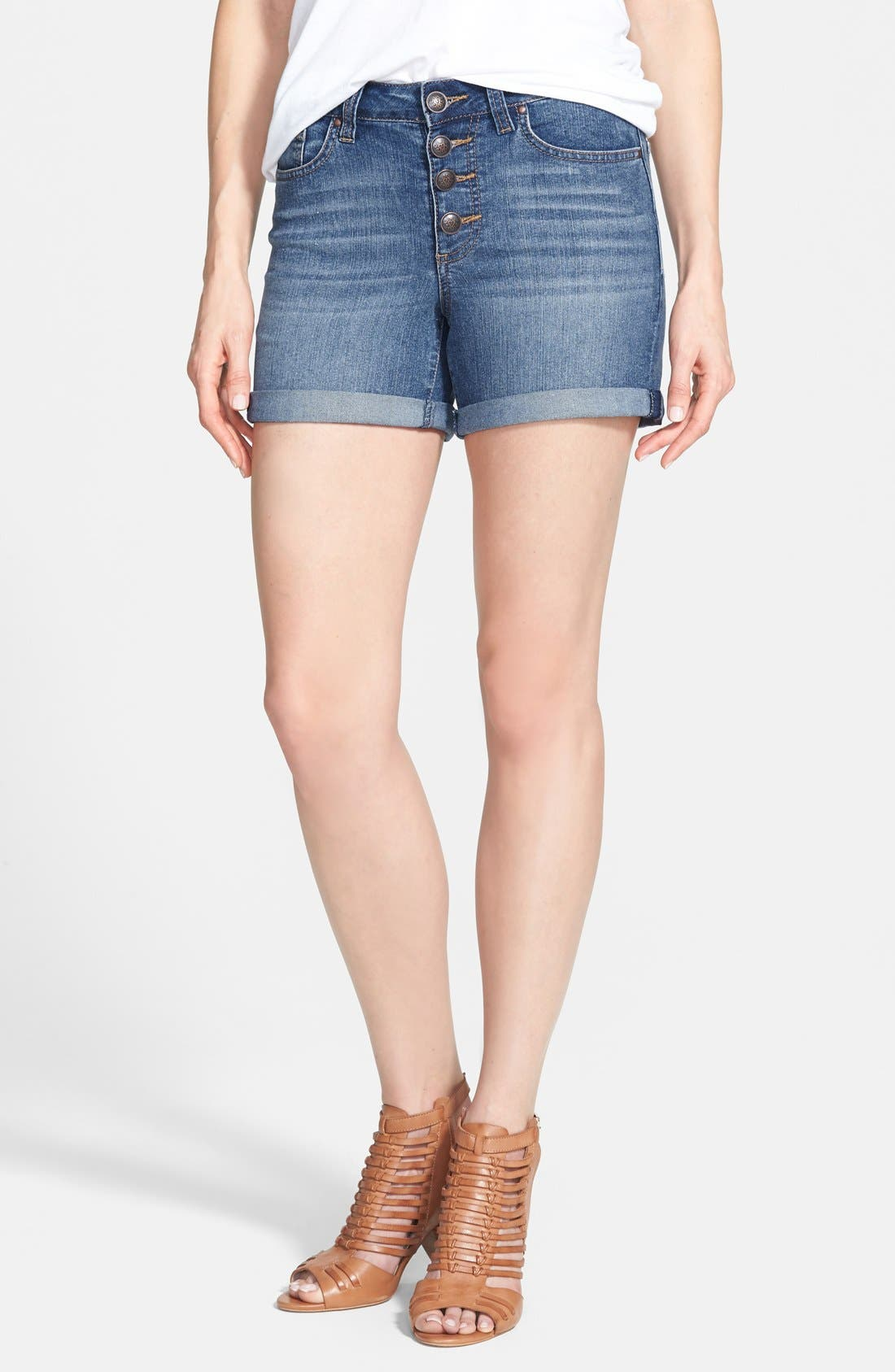 Main Image - Jessica Simpson 'Vintage' High Waist Denim Shorts