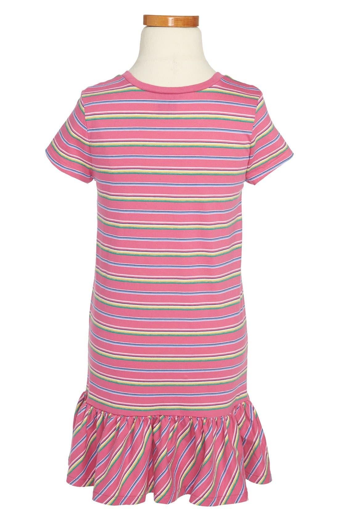 Alternate Image 2  - Ralph Lauren Stripe T-Shirt Dress (Little Girls)