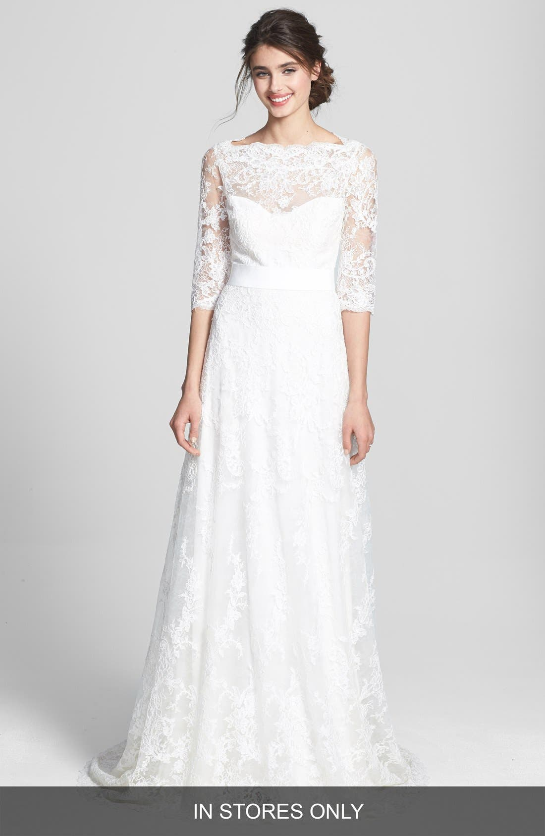 Alternate Image 1 Selected - Marchesa Corded Lace Dress (In Stores Only)