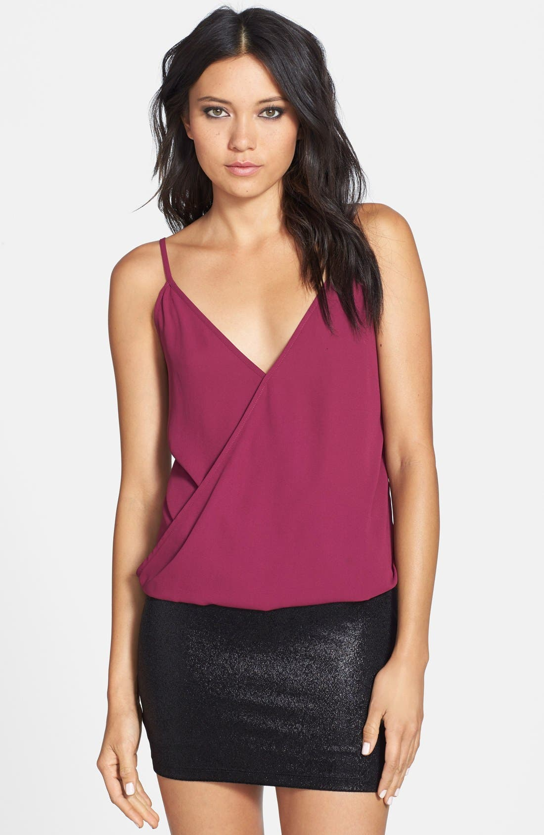 Main Image - WAYF Wrap Front Camisole