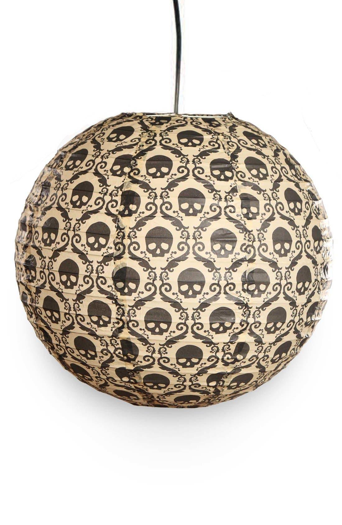 Main Image - Bethany Lowe 'Skull Damask' Paper Lantern