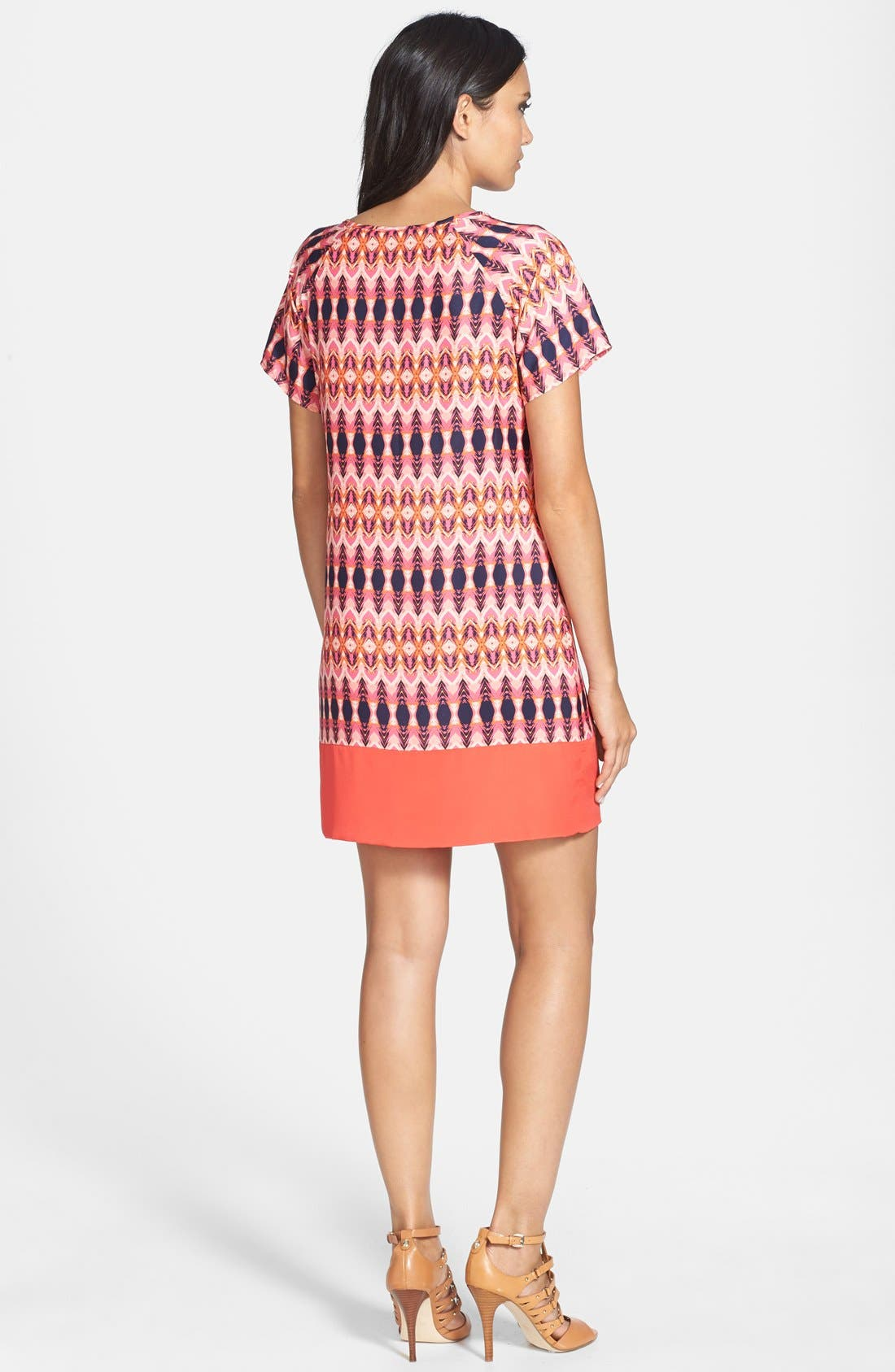Alternate Image 2  - Collective Concepts Print Shift Dress